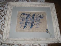 cross stitch monogram W