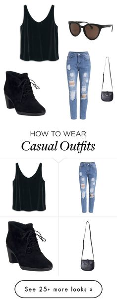 """""""casual fun"""" by lsellars on Polyvore featuring moda, MANGO, Topshop ve Clarks"""