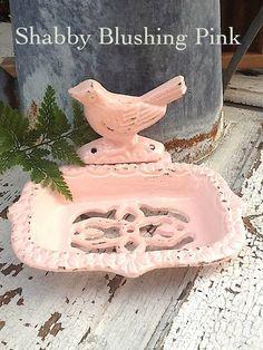 Bird Business Card Holder - Vintage Inspired-  in Blushing Light Pink-Spring Home Decor-Bathroom Decor-Housewarming Gift-Pastels-Card Holder on Etsy, $24.00