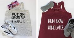 Need a fun way to motivate yourself to get to the gym? Put on Gangsta Rap and Handle It! These ultra soft tanks are flattering for any body type. Choose from 5 fun Statements and 7 Colors!