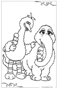 Sesame Street Printable Coloring Pages for Kids