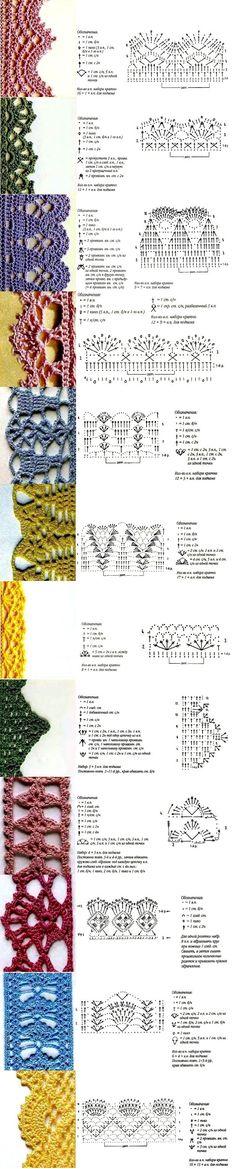 56 Ideas Crochet Edging For Blankets Charts Gilet Crochet, Crochet Amigurumi, Crochet Trim, Knit Or Crochet, Crochet Motif, Crochet Doilies, Russian Crochet, Crochet Boarders, Crochet Edging Patterns