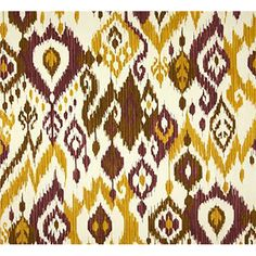 This is a deep purple, green and white Ikat design outdoor Upholstery fabric, suitable for any decor. Perfect for pillows, cushions and furniture.v112ANF
