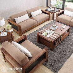 Living Room Sofa Design, Bedroom Furniture Design, Home Room Design, Home Decor Furniture, Sofa Furniture, Living Room Sofa Sets, Furniture Projects, Furniture Makeover, Wooden Sofa Set Designs