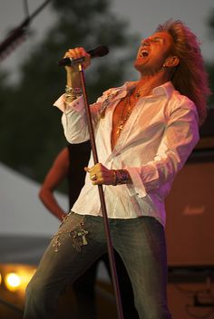 For his early days before he went all cock rock. Whitesnake Band, Bret Michaels Band, 80s Rock Bands, David Coverdale, Heavy Metal Fashion, Joey Tempest, Glam Metal, Celebs, Celebrities