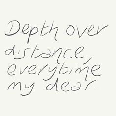 depth over distance