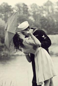 Sweet engagement photo