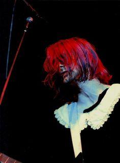 Kurt Cobain live at the LA Sports Arena in California. December, 1991.