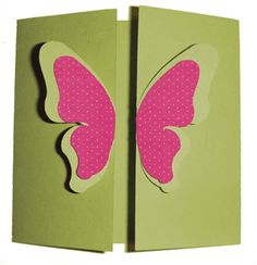 Silhouette Online Store - View Design #15751: butterfly gate fold card