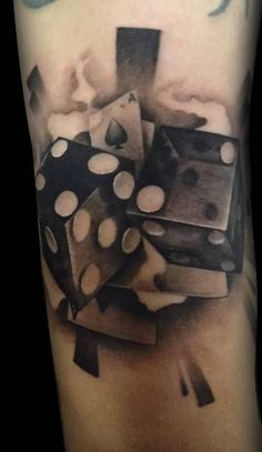 #dice #tattoo #dicetattoo