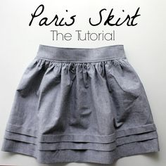"Tuto jupe ""Paris"" - Paris skirt tutorial by ""Nothing too fancy"" Sewing For Kids, Free Sewing, Kids Sewing Patterns, Skirt Patterns Sewing, Sewing Diy, Diy Clothing, Clothing Patterns, Coat Patterns, Sewing Clothes Women"
