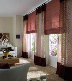 Roller blinds: 12 Options To Choose From - Decor Around The World Types Of Curtains, Curtains With Blinds, Roller Blinds, Home Decor Inspiration, Decoration, Decorating Your Home, Decorating Ideas, Printable Wall Art, Beautiful Homes