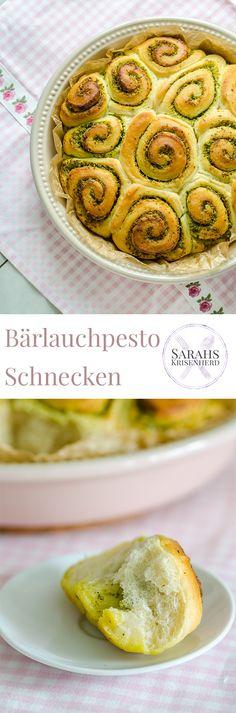 Bärlauchpesto Schnecken - die perfekte Beilage zum Grillen oder für das Frühstücksbuffet // Wild Garlic Pesto Rolls - perfect for breakfast & barbecue