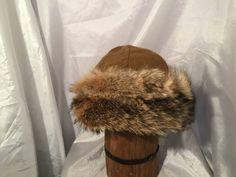 Beautiful Mongolian, Russian, Cossack, Norse, Celtic, brown/tan wool, with beautiful coyote fur