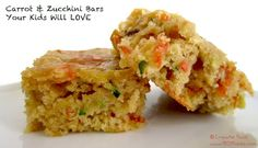 carrot zucchini bars your kids will love - great for lunch boxes - sweetened with honey