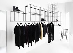 This is more appropriate for the look of a modern clothing store, but this is…