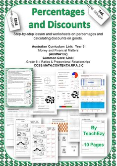 Purchase this resource now and earn 75.00 Points Want a Discount...Like this resource using the social media icons & a discount will automatically be applied to your purchase at checkout. Share Curriculum/Framework: Money and Financial Matters (ACMNA132) Year Level: 6 Resource Type: PDF Number of Pages: 10 About This Product: This resource includes a step-by-step lesson and worksheets on …