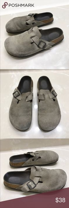 Betula Birkenstock suede leather sandals mules 11 Authentic Betula by Birkenstock suede leather sandals mules sz 11 has some wear/marks on suede leather insoles are faded and slight wear to bottom heels Birkenstock Shoes Mules & Clogs