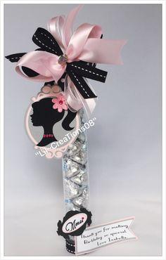 Barbie Gumball Tube, Barbie Treats Favors, Princess Barbie Favors, Paris Gumball…