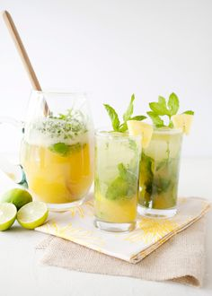 Pineapple Arugula Mojito / such an interesting combination...