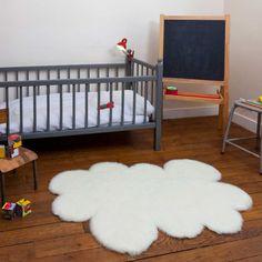 Tapis nuage fausse fourrure Blanc cassé (130 x 90 cm) : Pilepoil - Tapis nuage - Berceau Magique
