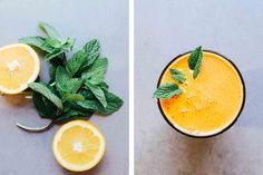 Keep the skin healthy and glowing through the winter months with nutritious, Vitamin-A rich juices. Here, we make a carrot and orange juice, which packs a powerful vitamin A punch. Click over to see the final secret ingredient, which gives it that incredible color!