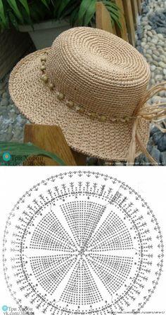 Than Fedora Hat Crochet Pattern Free 15 # knit crochet hat pattern Crochet Summer Hats, Crochet Cap, Crochet Diagram, Crochet Beanie, Crochet Motif, Knitted Hats, Crochet Patterns, Knitting Patterns, Hat Patterns
