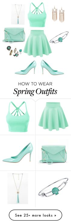 """Spring outfit"" by ashtonangus on Polyvore featuring LE3NO, Gianvito Rossi, Apt. 9, Disney and H&M"