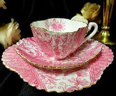 WILEMAN Shelley PINK DOLLY VARDEN ALEXANDRA TRIO c1886