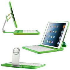 CoverBot iPad Mini Ultra Bluetooth Keyboard Station GREEN with Magnetized Detachable Case For 7.9 Inch New Mini iPad with IOS Commands. Folio Style Cover with 360 Degree Rotating Viewing Stand Feature, http://www.amazon.com/dp/B00EAA3M6K/ref=cm_sw_r_pi_awd_SNMnsb1NEY879
