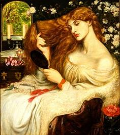 Dante Gabriel Rossetti, 'Lady Lilith' (1868) Oil on canvas, 37x 32 inches, Bancroft Collection, Wilmington Society of Fine Arts, Delaware. Model: Fanny Cornforth.