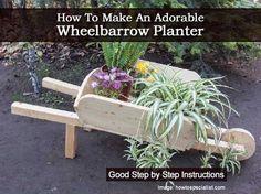 How To Make An Adorable Wheelbarrow Planter