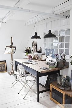 industrial style work space via @madaboutthehouse