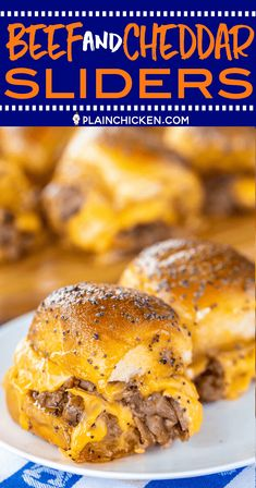 Beef Cheddar Sliders perfect for watching football parties or a quick lunch and dinner Seriously delicious Hawaiian rolls deli roast beef bbq sauce cheddar cheese butte. Football Food, Football Parties, Football Party Recipes, Superbowl Party Food Ideas, Tailgating Ideas, Tailgate Food, Appetizers For Party, Rolled Roast Beef, Roast Beef And Cheddar