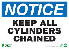 2142A ZING Sign, Notice Keep Cylinder Chnd, 10x14, Aluminum