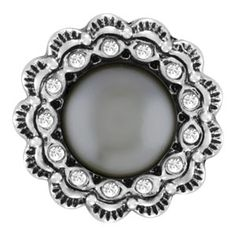 Scallop Grey Pearl Snap Original Snap Collection S0234--$9.99
