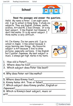 A Letter from Uncle Sam English Comprehension Worksheet – English Treasure Tro. Learning English For Kids, English Lessons For Kids, English Worksheets For Kids, Learn English Words, Kids English, English English, English Activities, Grammar For Kids, Teaching English Grammar