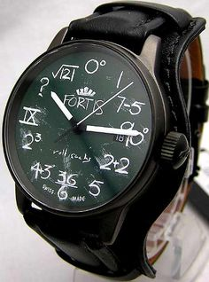 pretty cool chalkboard watch - Fortis IQ watch by Rolf Sachs