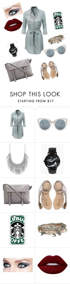 """""""Untitled #105"""" by catia-santos on Polyvore featuring LE3NO, Erdem, Lucky Brand, L*Space, Samsung, Aéropostale and Lime Crime"""
