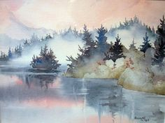 Teresa Ascone - Mist at Sunrise watercolor from Missy Grenell.