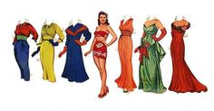 esther williams 1950 paper doll | Esther Williams, Merrill, 1950