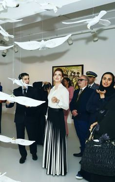 Princess Lalla Salma of Morocco , in Ralph Lauren , visits the Arab Museum of Modern Art in Doha - 19 February 2015