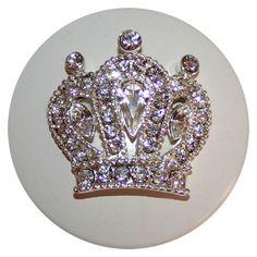 Crown Rhinestone Knob from PoshTots