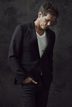 "Kevin Bacon as Ryan Hardy in ""The Following"" on FOX.  He is still going strong!"