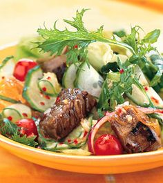 Summer Steak Salad Summer Steak Salad with Ginger-Lime Dressing Recipe ...