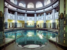 Swimming baths in Halle/Saale Germany