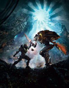 Master Chief vs. Promethean Knight