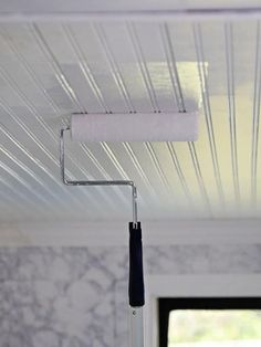 Replace a Drop Ceiling With Beadboard Paneling to Replace a Drop Ceiling With Beadboard Paneling Bead Board - Styrofoam Ceiling Tile - - Plain White 14 Ways to Cover a Hideous Ceiling: Unique Ceiling Ideas Drop Ceiling Panels, Drop Ceiling Basement, Drop Ceiling Tiles, Shiplap Ceiling, Porch Ceiling, Dropped Ceiling, Ceiling Decor, Ceiling Design, Wall Decor