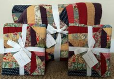 Pottery Barn Bandana Patchwork Full Queen Quilt 2 Std Shams New Red | eBay