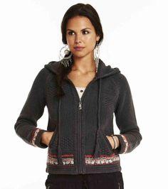 collins zip hood cardigan